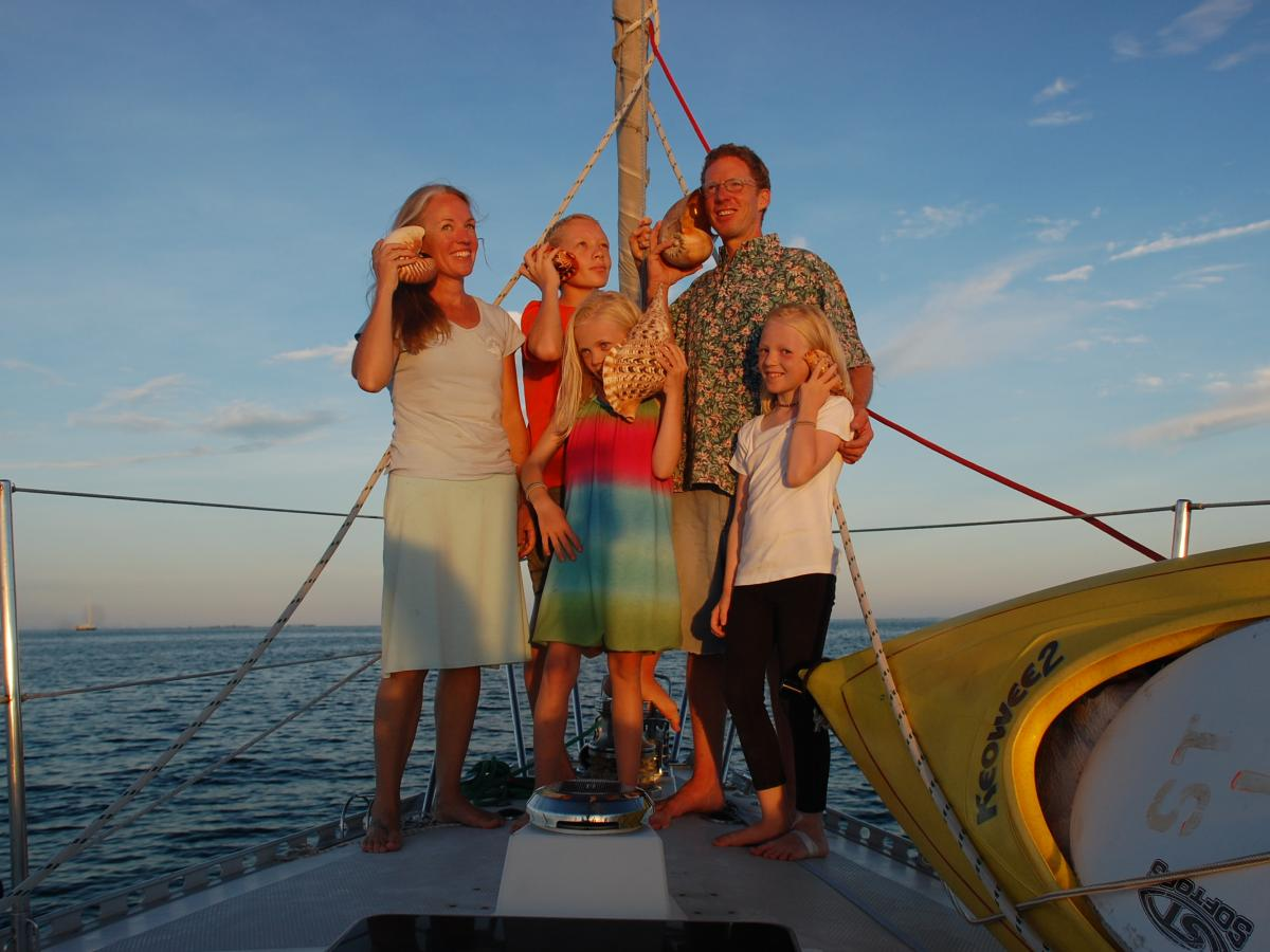 The Gifford family quit the rat race to sail the open ocean