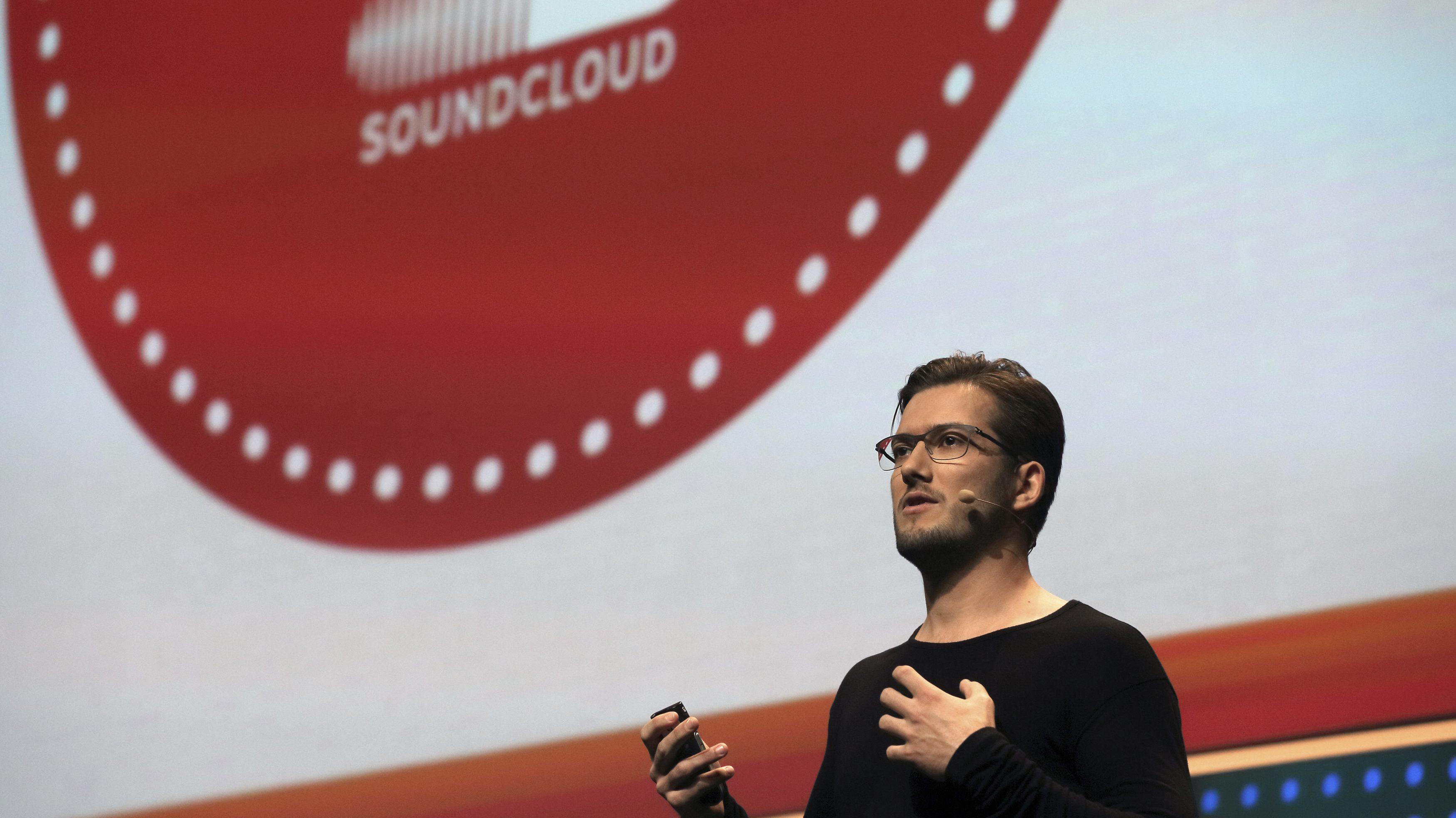Berlin's SoundCloud CEO Alexander Ljung attends the LeWeb technology conference near Paris