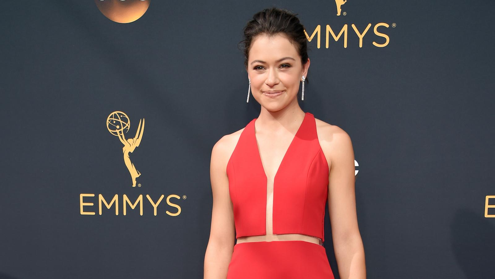 Tatiana Maslany at the 2016 Emmy Awards
