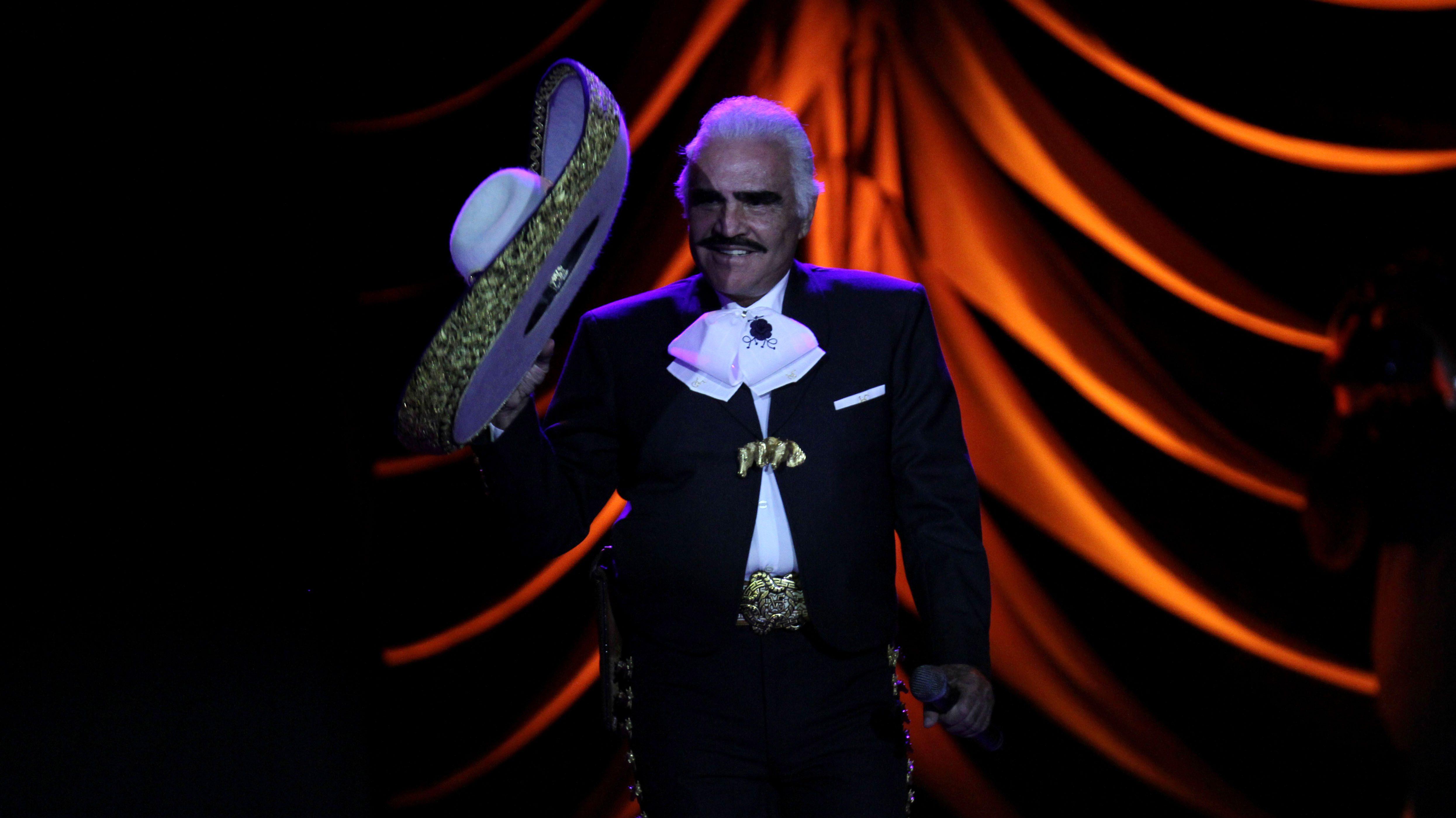 Mexican singer Vicente Fernandez.