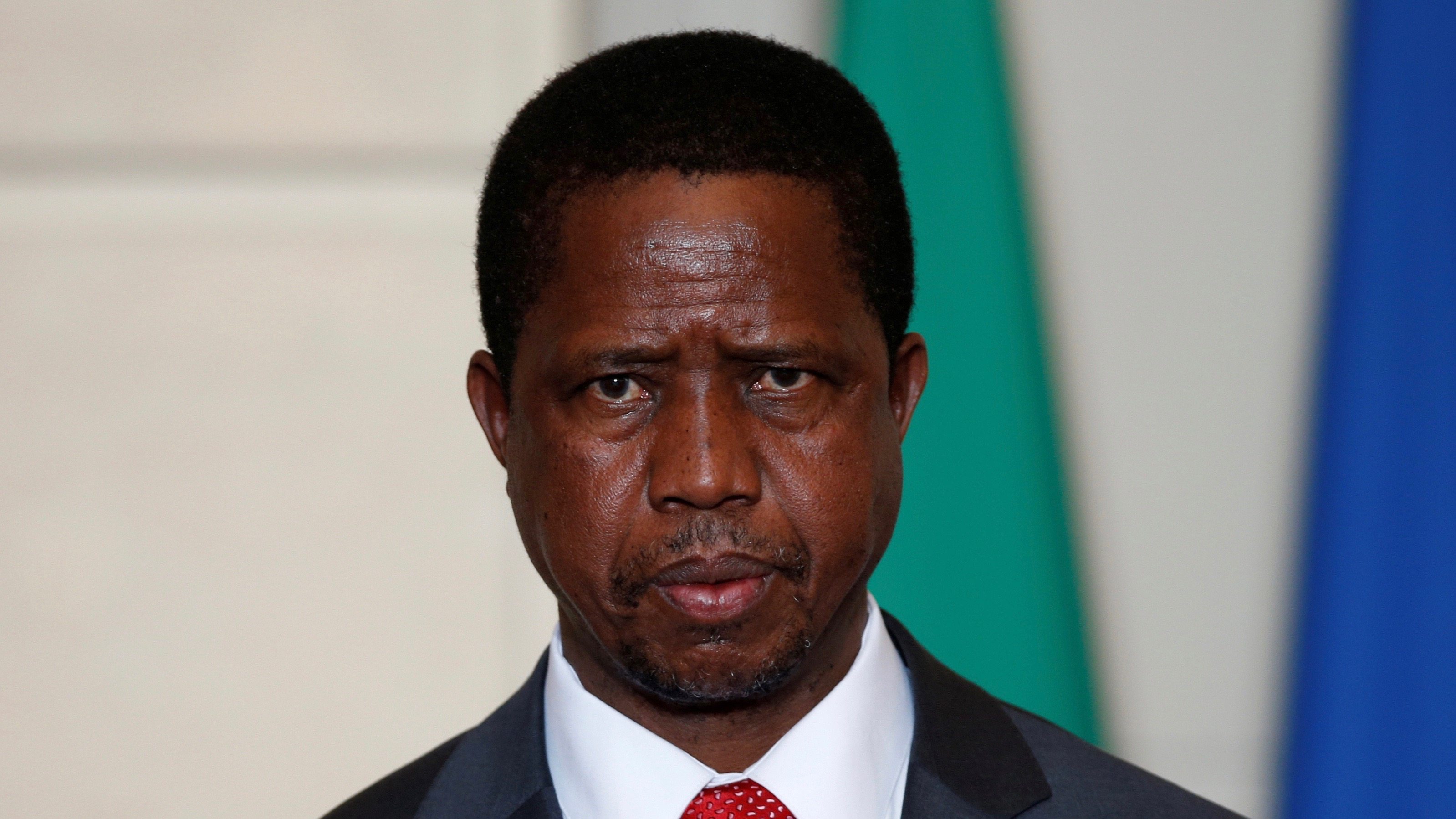 Zambia's President Edgar Lungu attends a signing ceremony at the Elysee Palace in Paris, France, February 8, 2016. REUTERS/Philippe Wojazer/File Photo - RTX2LQPZ
