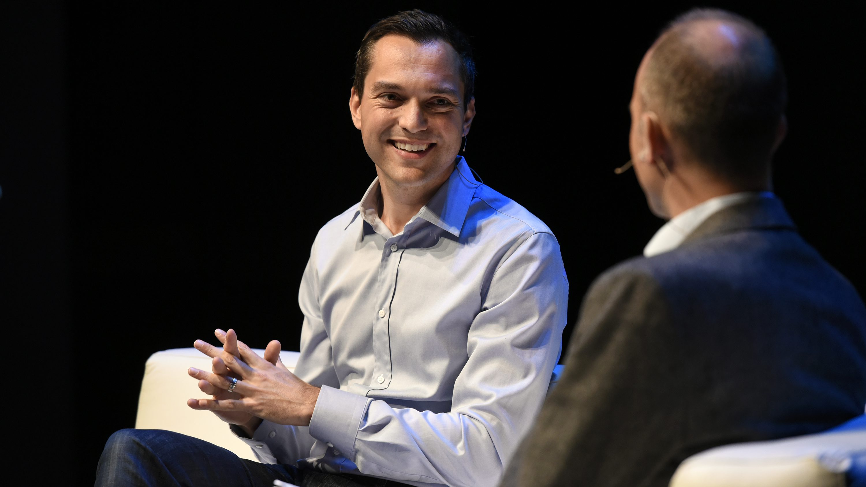 Airbnb's Nathan Blecharczyk at Quartz's The Next Billion conference on Oct. 13, 2016.