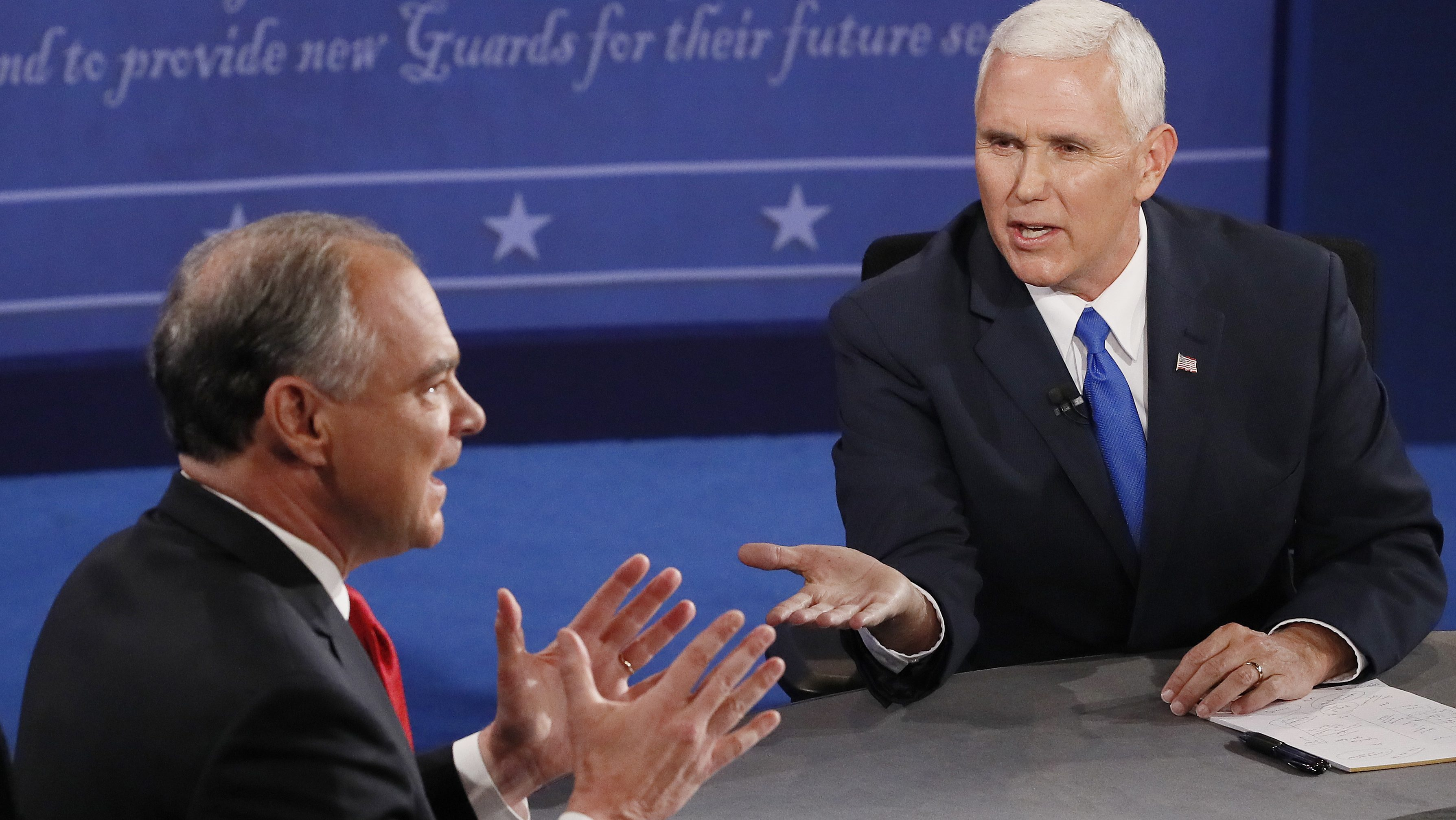 tim kaine mike pence vice presidential debate 2016
