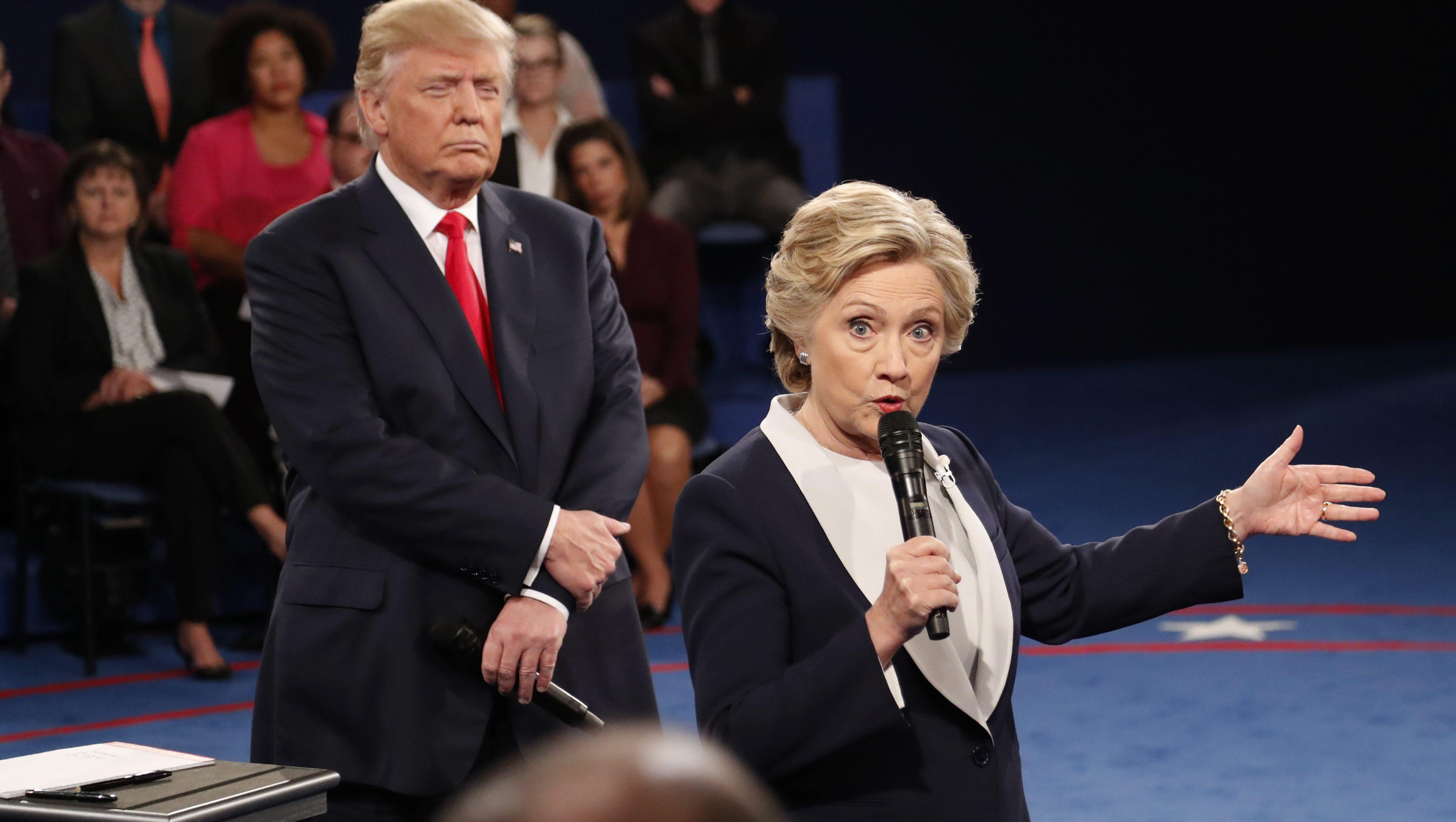 Hillary Clinton, Donald Trump presidential debate