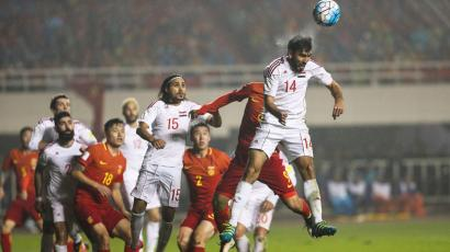 China against Syria in qualifying game for 2018 World Cup