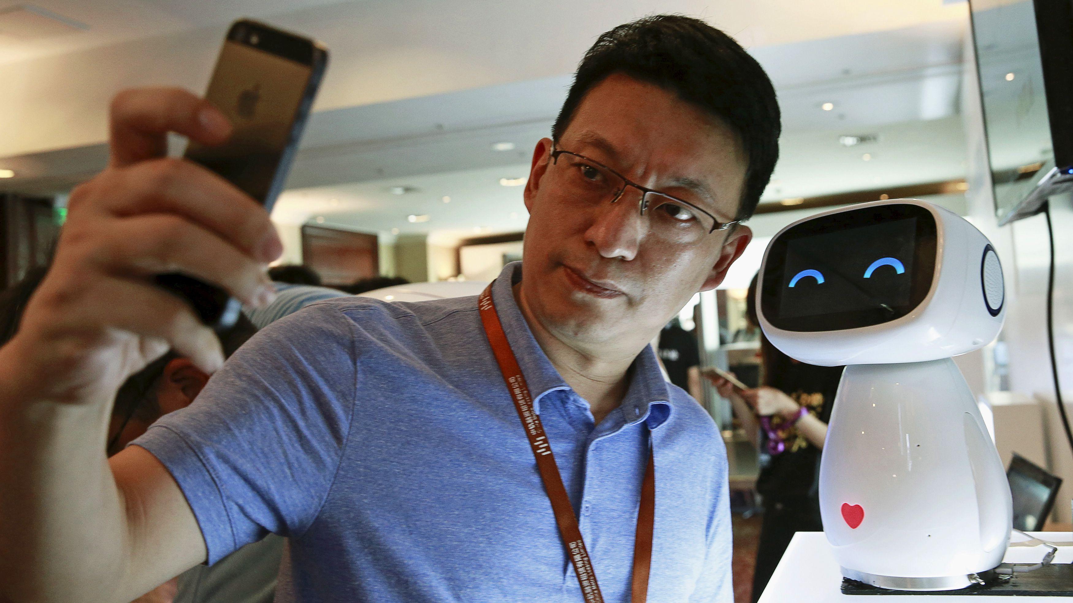 Chinese robot selfie