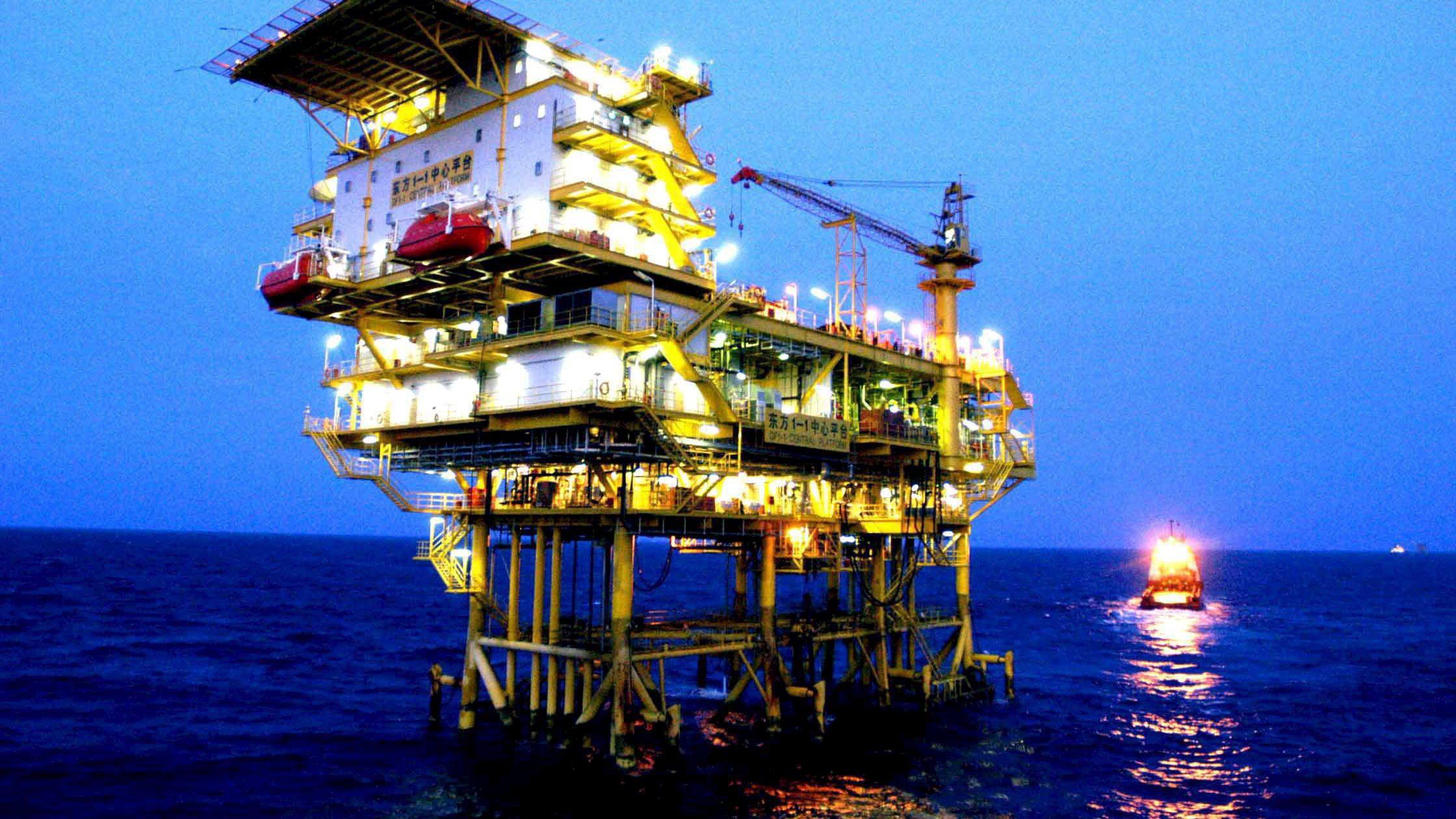 A CNOOC gas field exploration platform