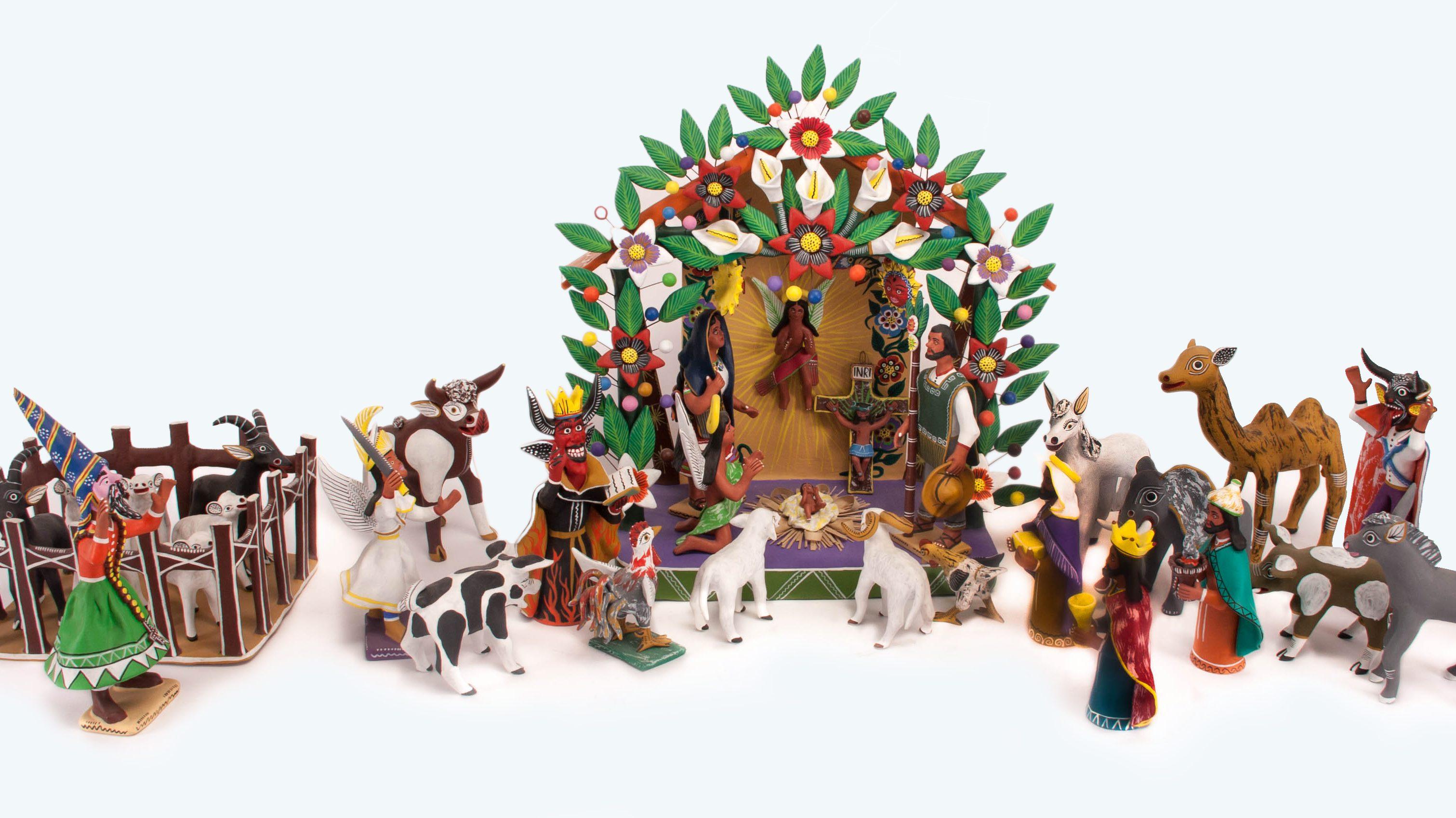 Artisanal Mexican Nativity Scene