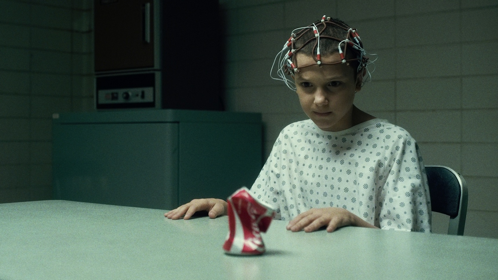 Eleven from Strange Things uses mind control.