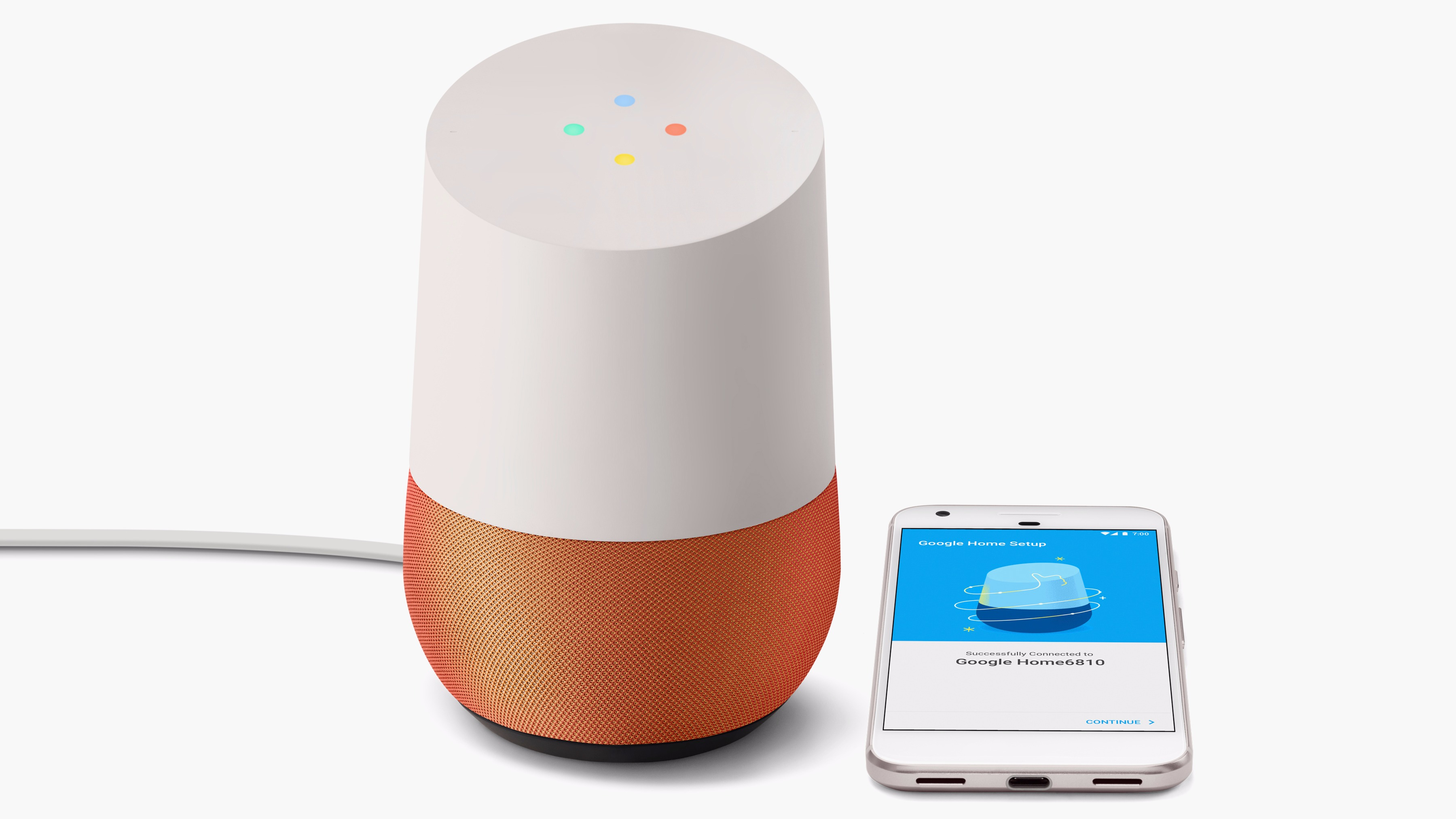 Google Home and Google Pixel