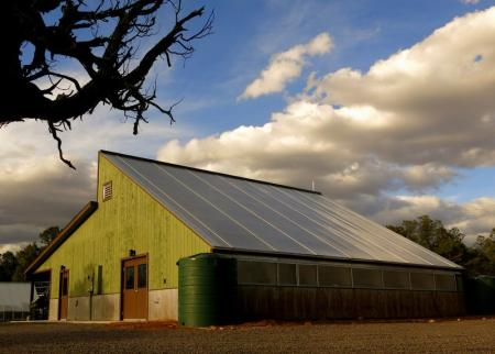 A solar-powered greenhouse at Grand Canyon National Park.