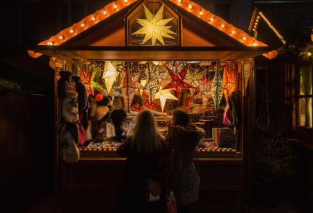 The Strasbourg Christmas market, the oldest in Europe.