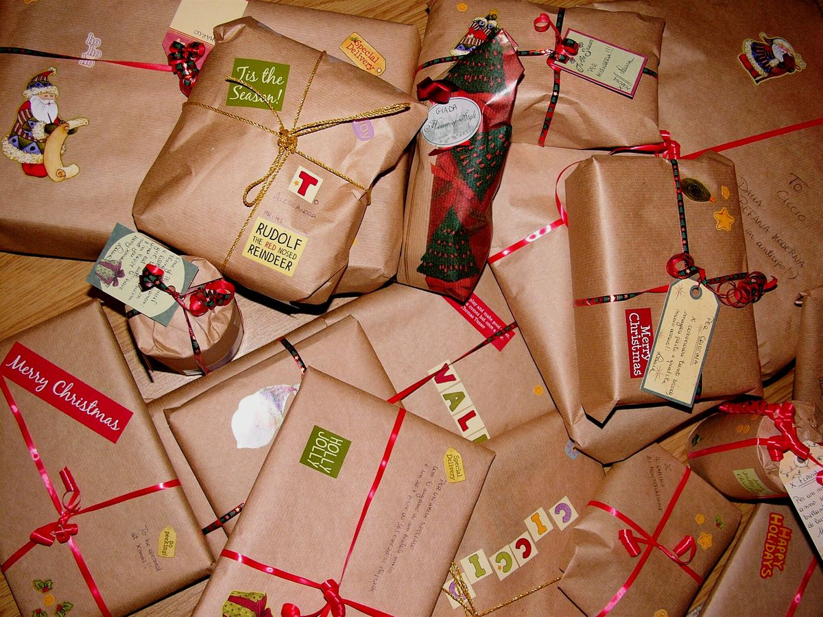 Wrapped presents in the Netherlands.