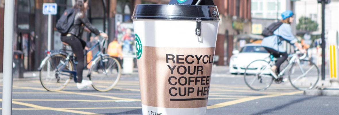 Coffee trash can