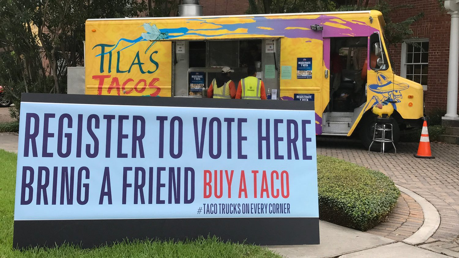 Taco-ing the vote.