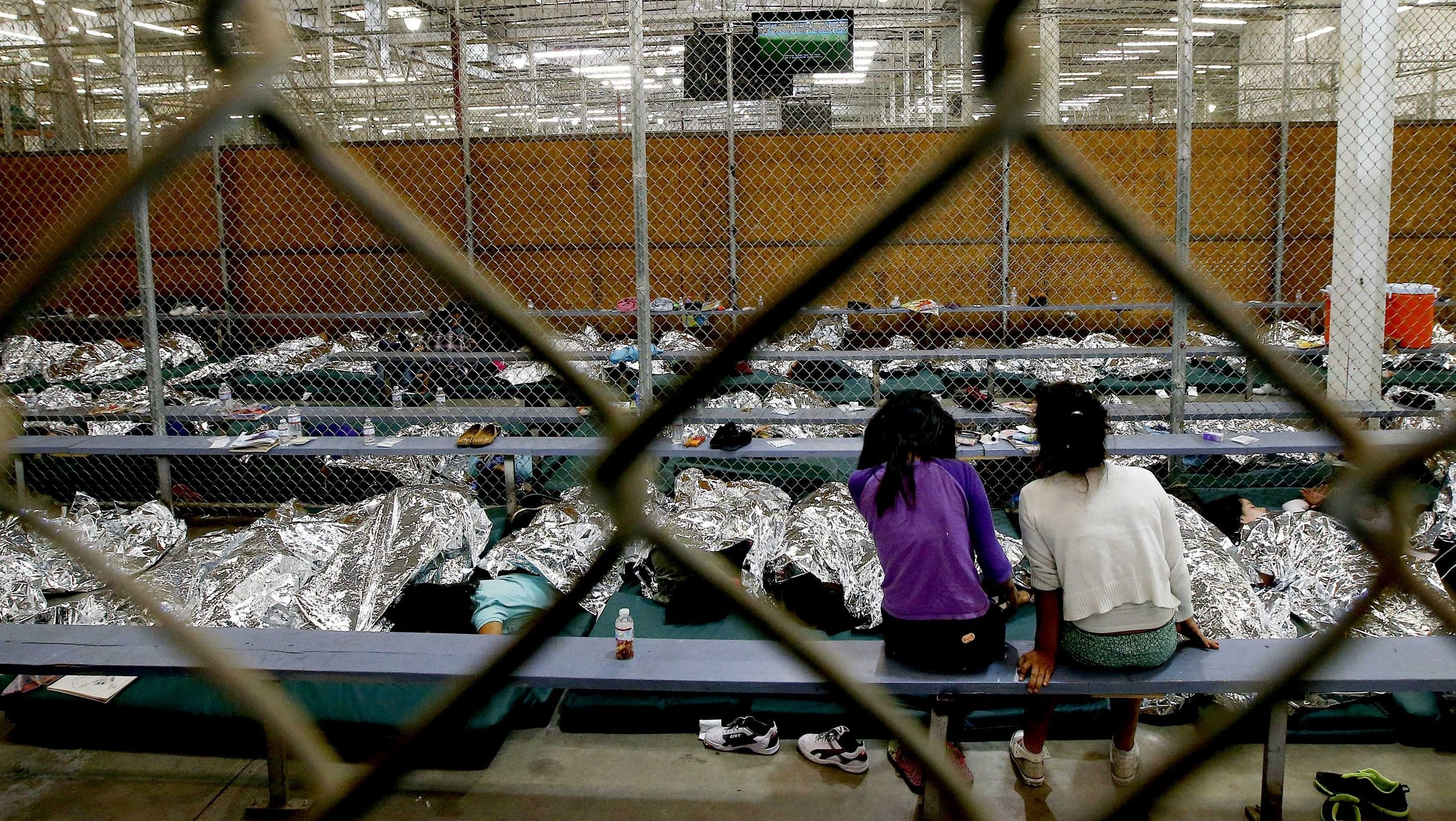 Central American immigrant children are being processed and held at the U.S. Customs and Border Protection Placement Center.