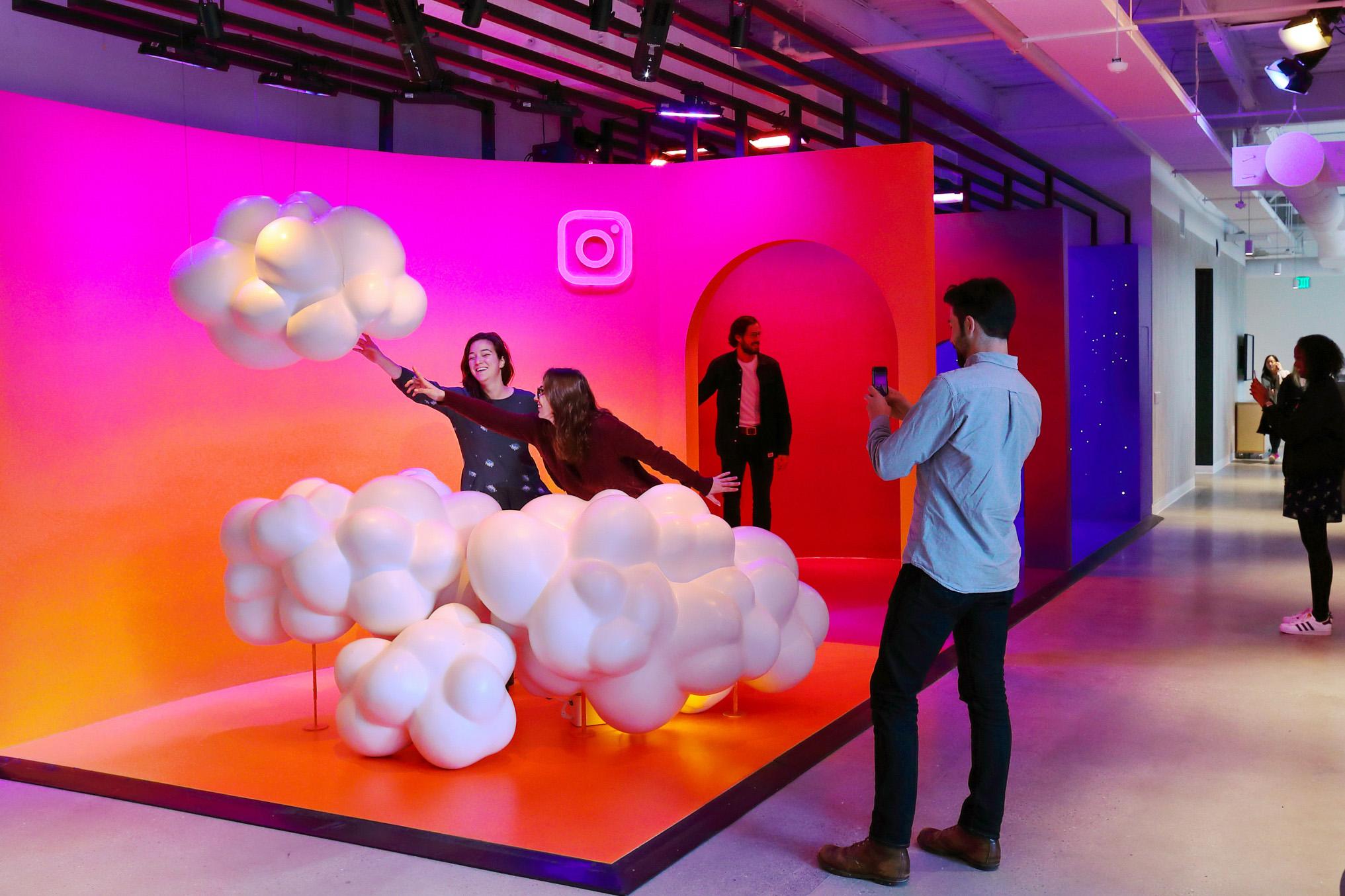 Instagram new headquarter's photo op space.