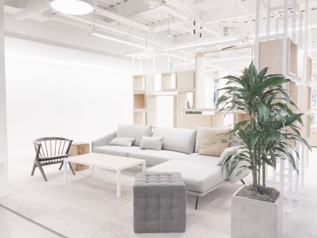 Seating area in the new Instagram headquarters.