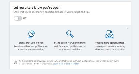 LinkedIn's new Open Candidate feature is designed to let you