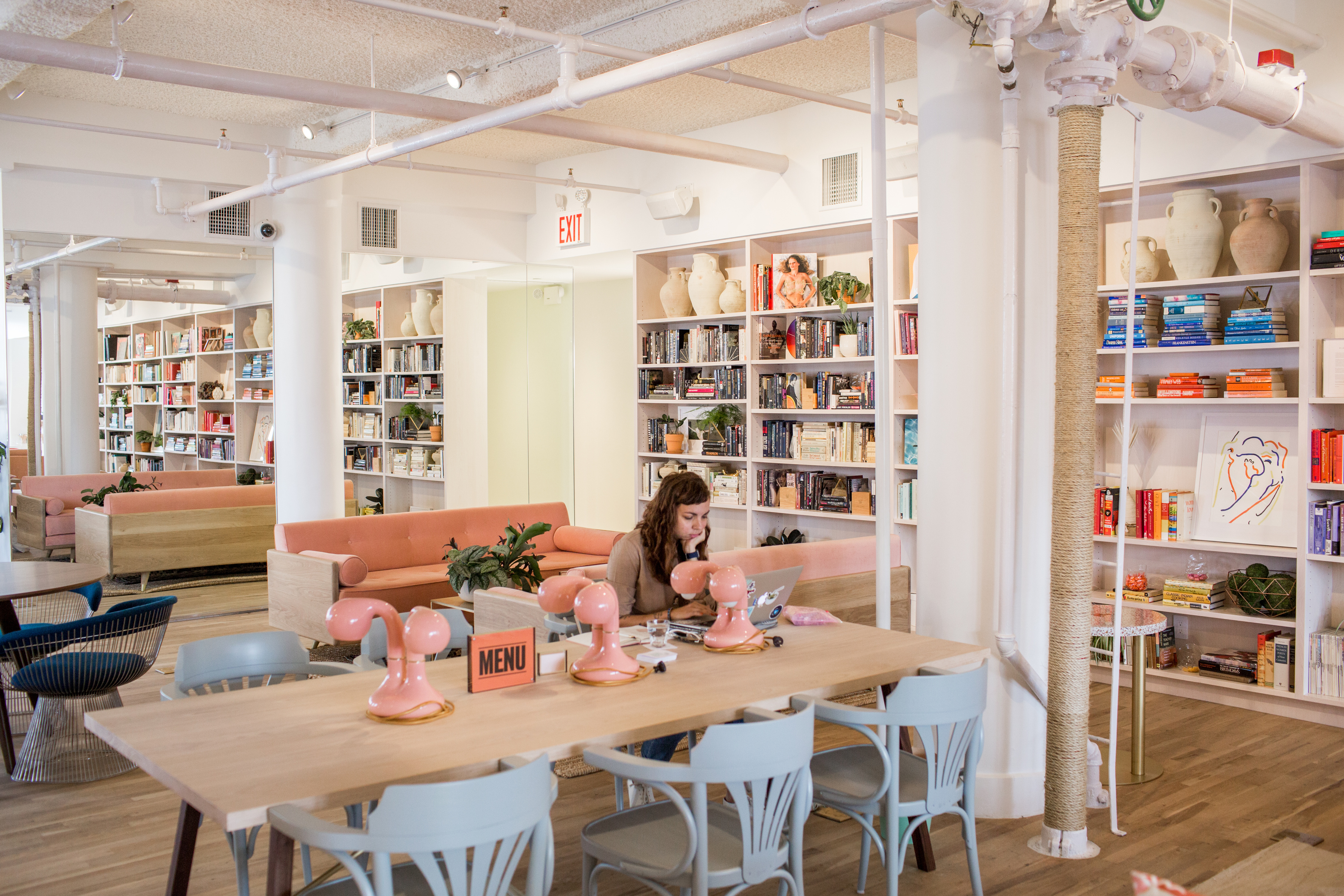 October 20th, 2016. Manhattan, NY. Laia Garcia, Deputy Editor at Money Magazine, works at The Wing. The Wing is a new co-working space for women only located at 45 East 20th street in Manhattan.