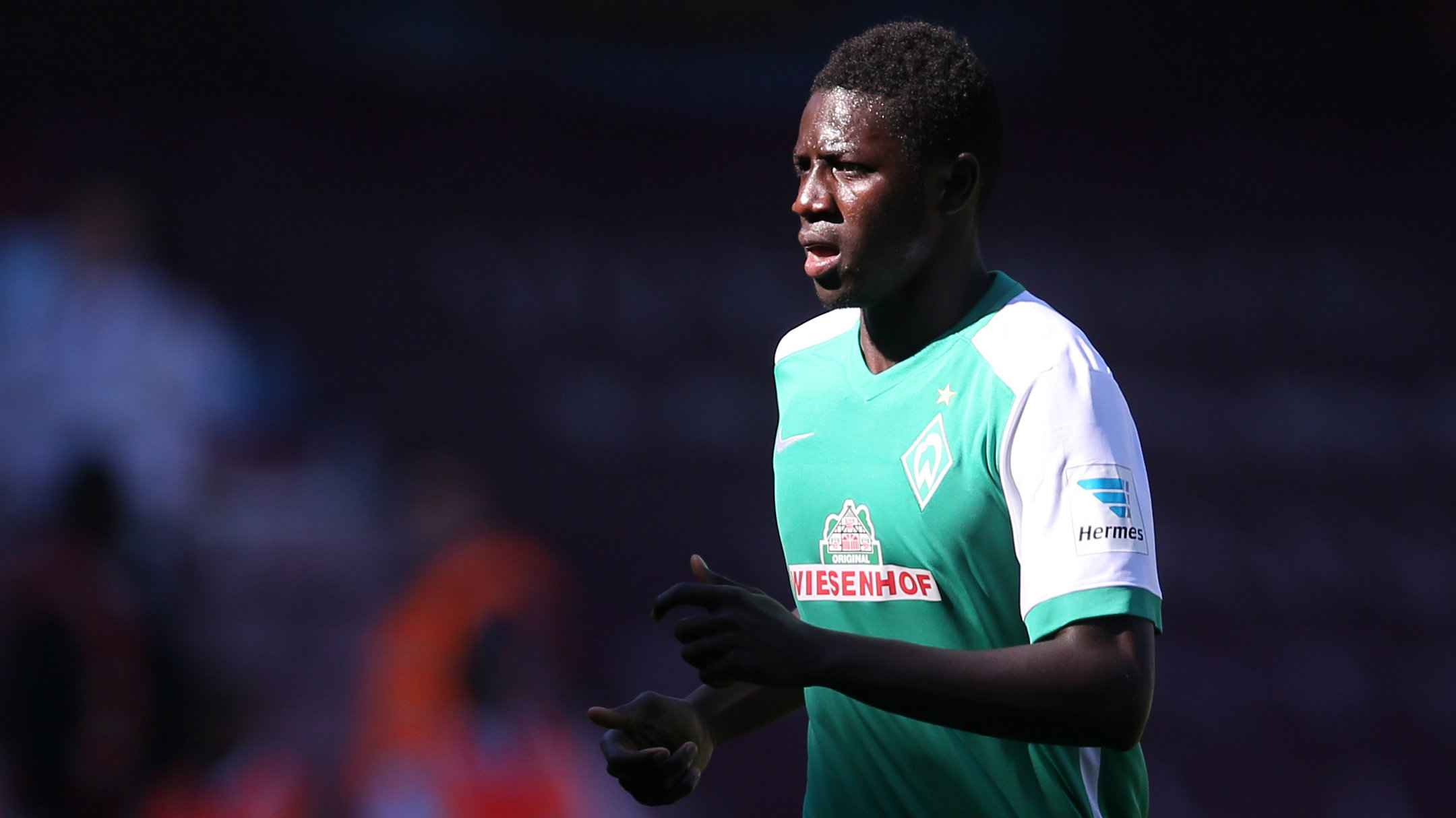 Football - West Ham United v Werder Bremen - Pre Season Friendly - Upton Park - 2/8/15 Werder Bremen's Ousman Manneh during the match
