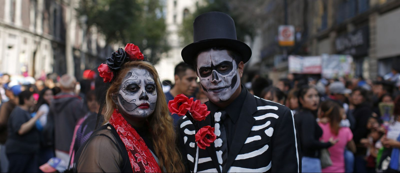 day of the dead parade in mexico city shows how james bond and