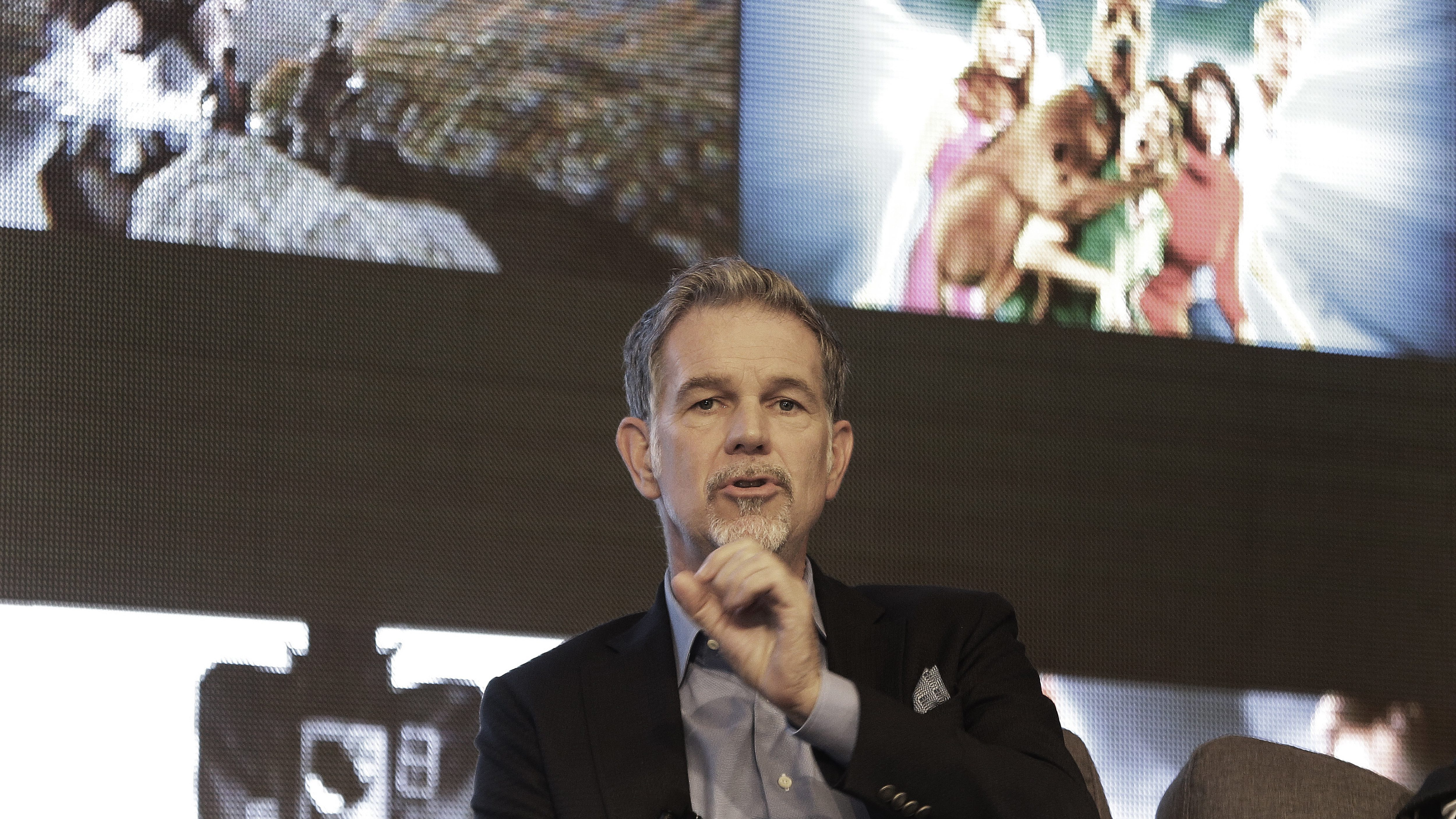 Reed Hastings, CEO of Netflix, speaks during a press conference in Seoul, South Korea, Thursday, June 30, 2016. Netflix plans to expand its Asian offerings to its subscribers around the world by tapping more creators in Asia. (AP Photo/Ahn Young-joon)