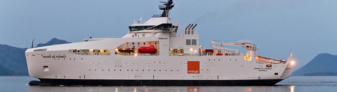The Pierre de Fermat cable ship