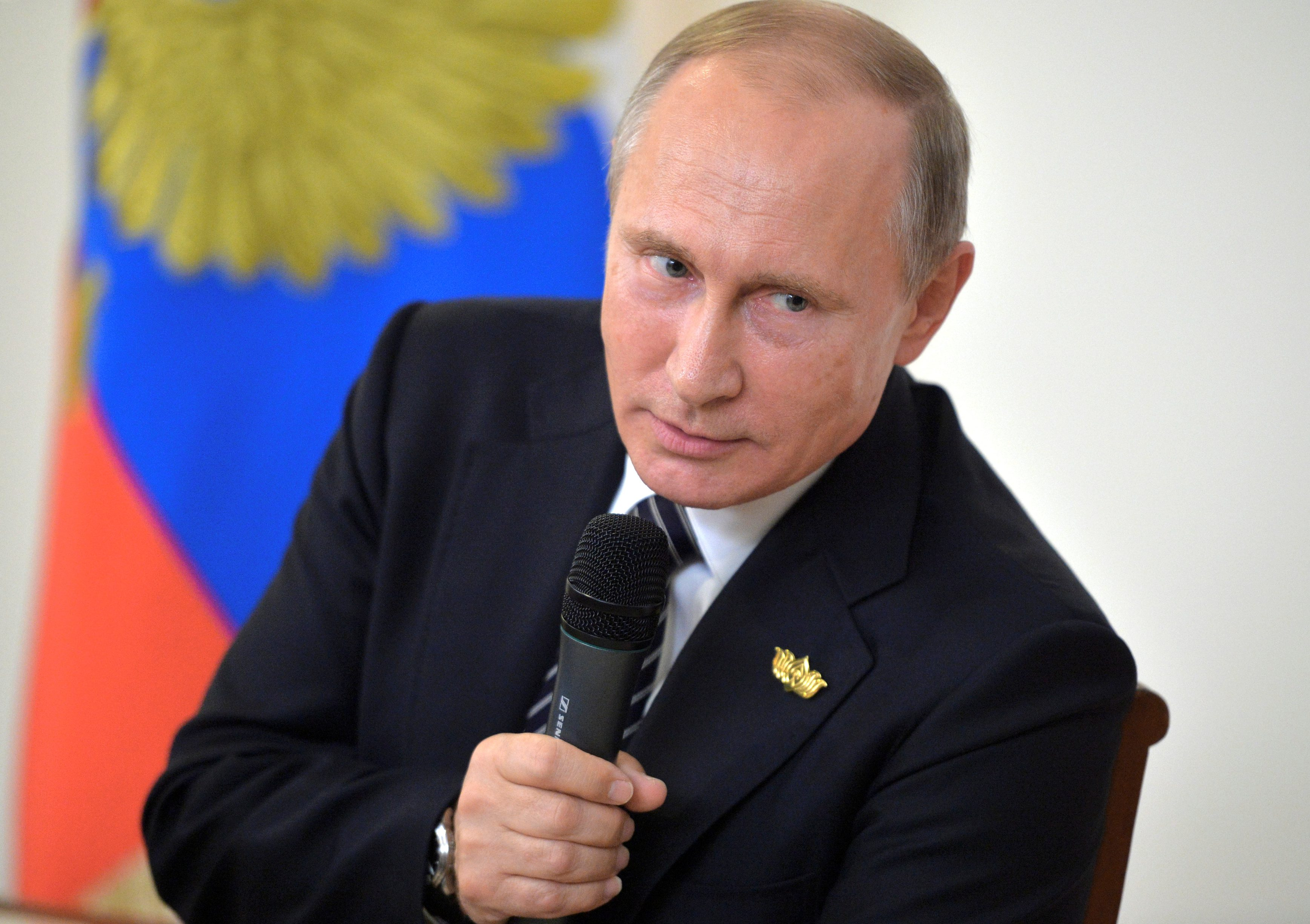 Russian President Vladimir Putin speaks during a news conference following the BRICS (Brazil, Russia, India, China and South Africa) Summit in the western state of Goa, India, October 16, 2016.