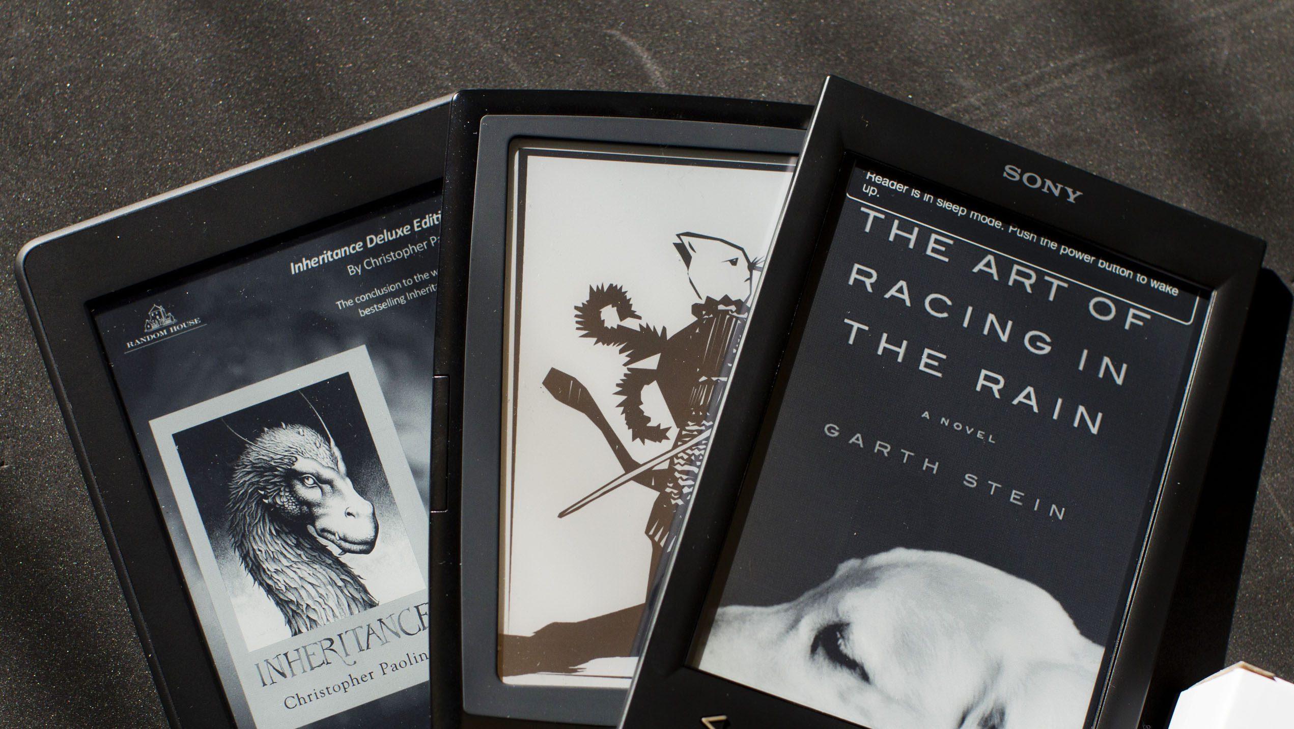 Amazon Kindle, Bookeen Cybook Odyssey, Sony Reader ereaders