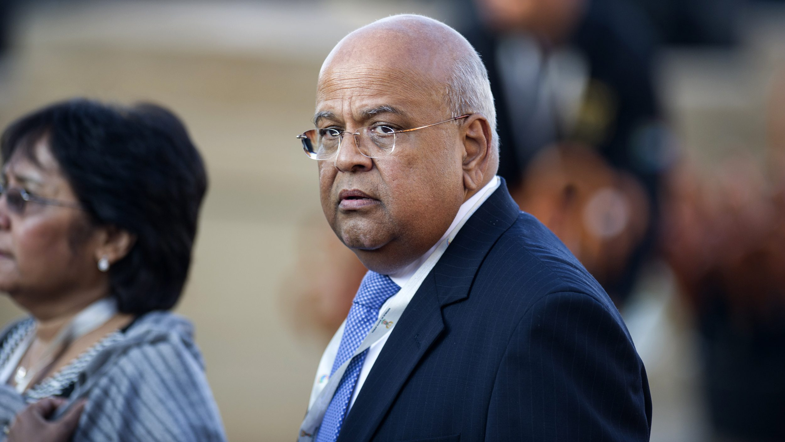 South African Minister of Finance Pravin Gordhan attends the inauguration ceremony of South African President Jacob Zuma at the Union Buildings in Pretoria