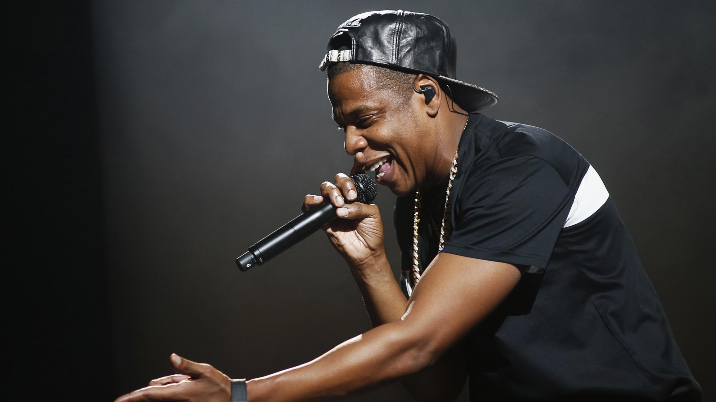 American rapper Jay-Z performs at Bercy stadium in Paris, October 17, 2013. REUTERS/Benoit Tessier/File Photo