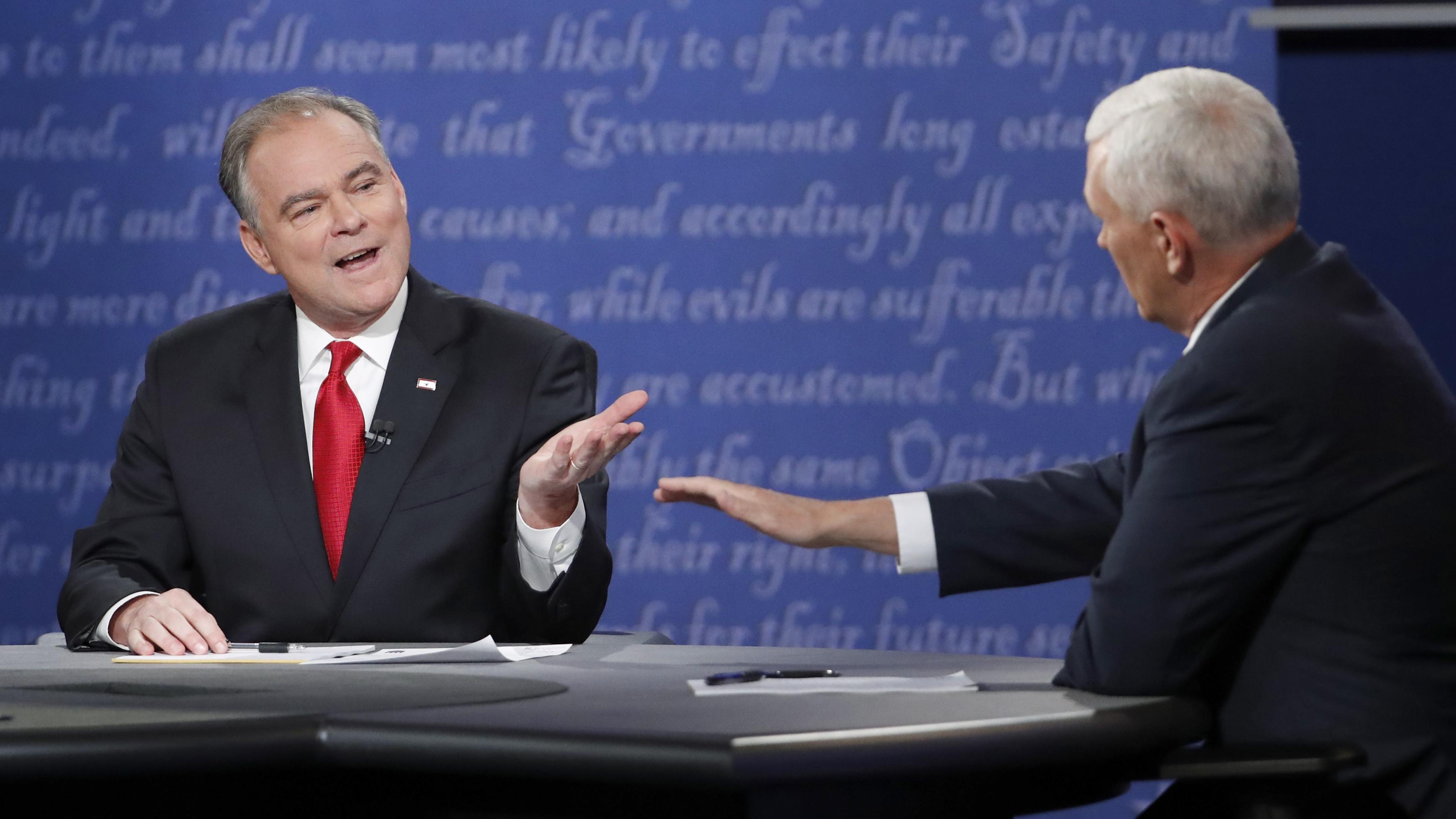 Mike Pence Tim Kaine vice presidential debate