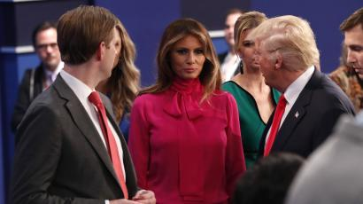 """aa96aed946bfe1 Melania Trump s """"pussy-bow"""" shirt at her husband s second presidential  debate was """"not intentional"""""""
