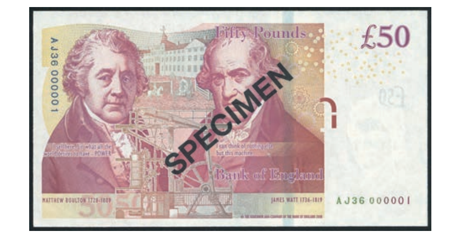 £50 banknote aunctioned