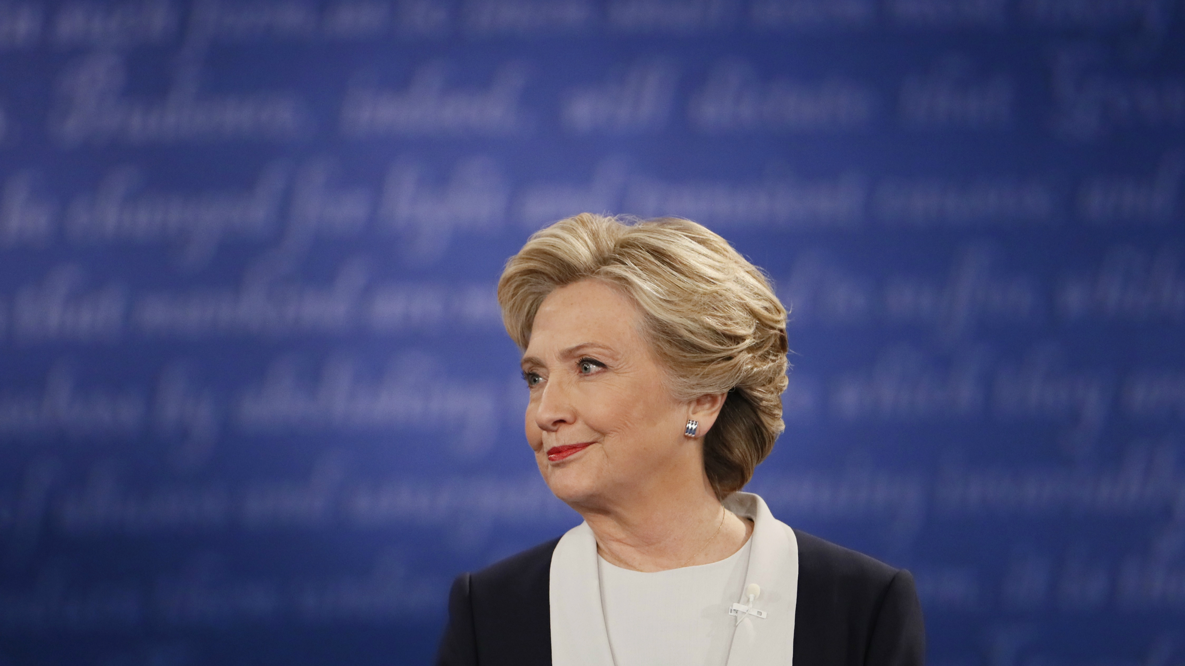 Hillary Clinton in presidential debate against Donald Trump
