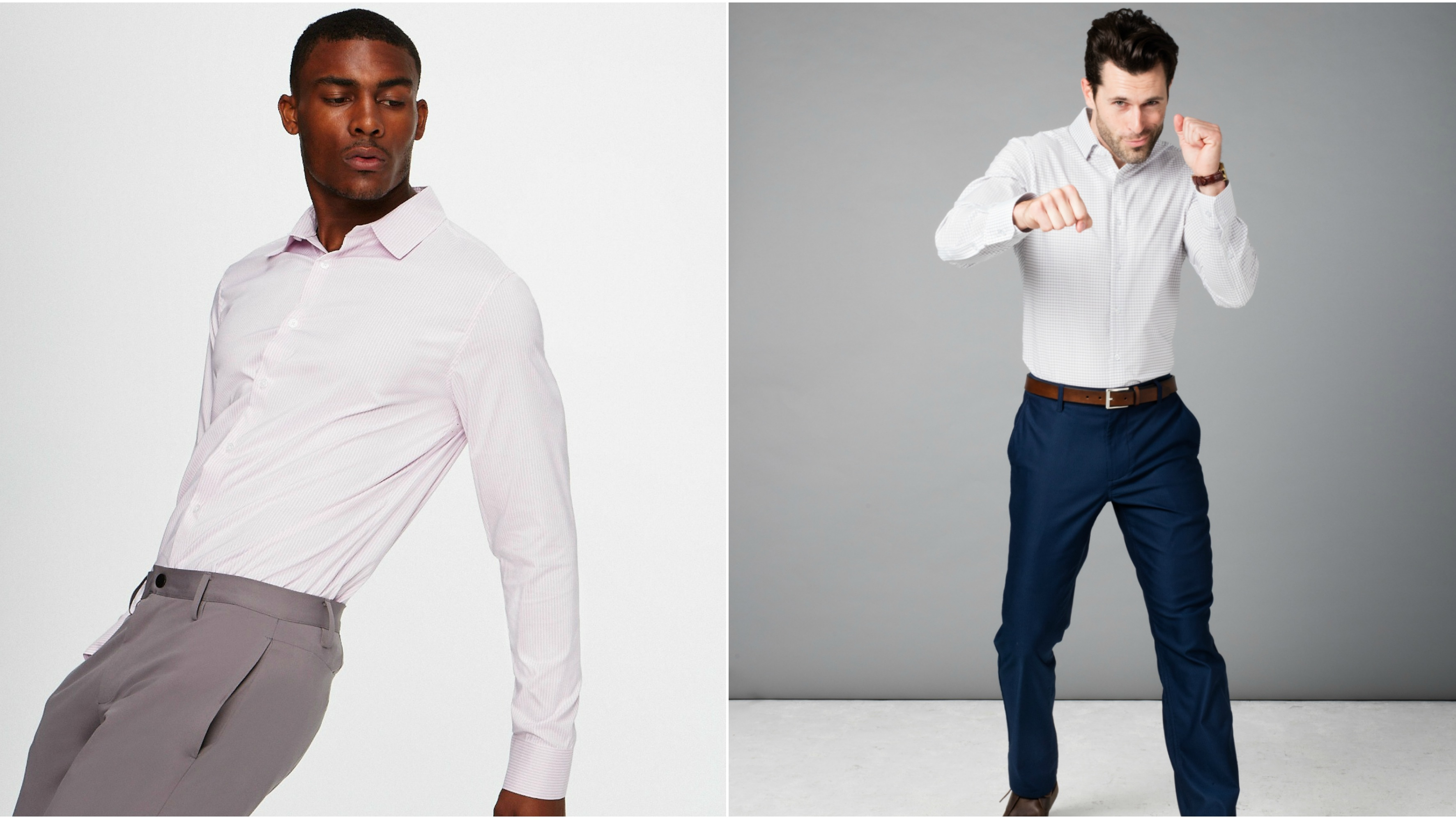 The generation that grew up with Nike Dri-FIT is making dress shirts you could run a marathon in