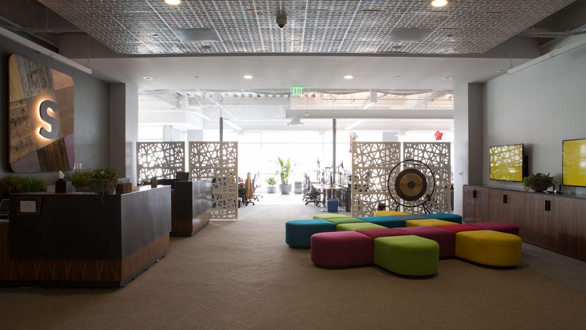Lobby of Slack office in San Francisco