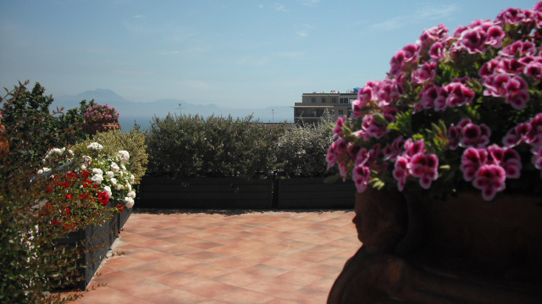 The terrace at Casa Rubinacci
