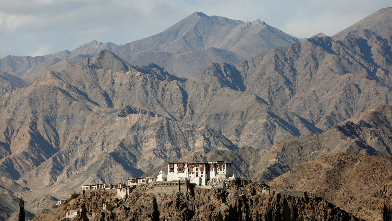 Stakna monastery catches the evening light near Leh, the largest town in the region of Ladakh, nestled high in the Indian Himalayas, India September 27, 2016.
