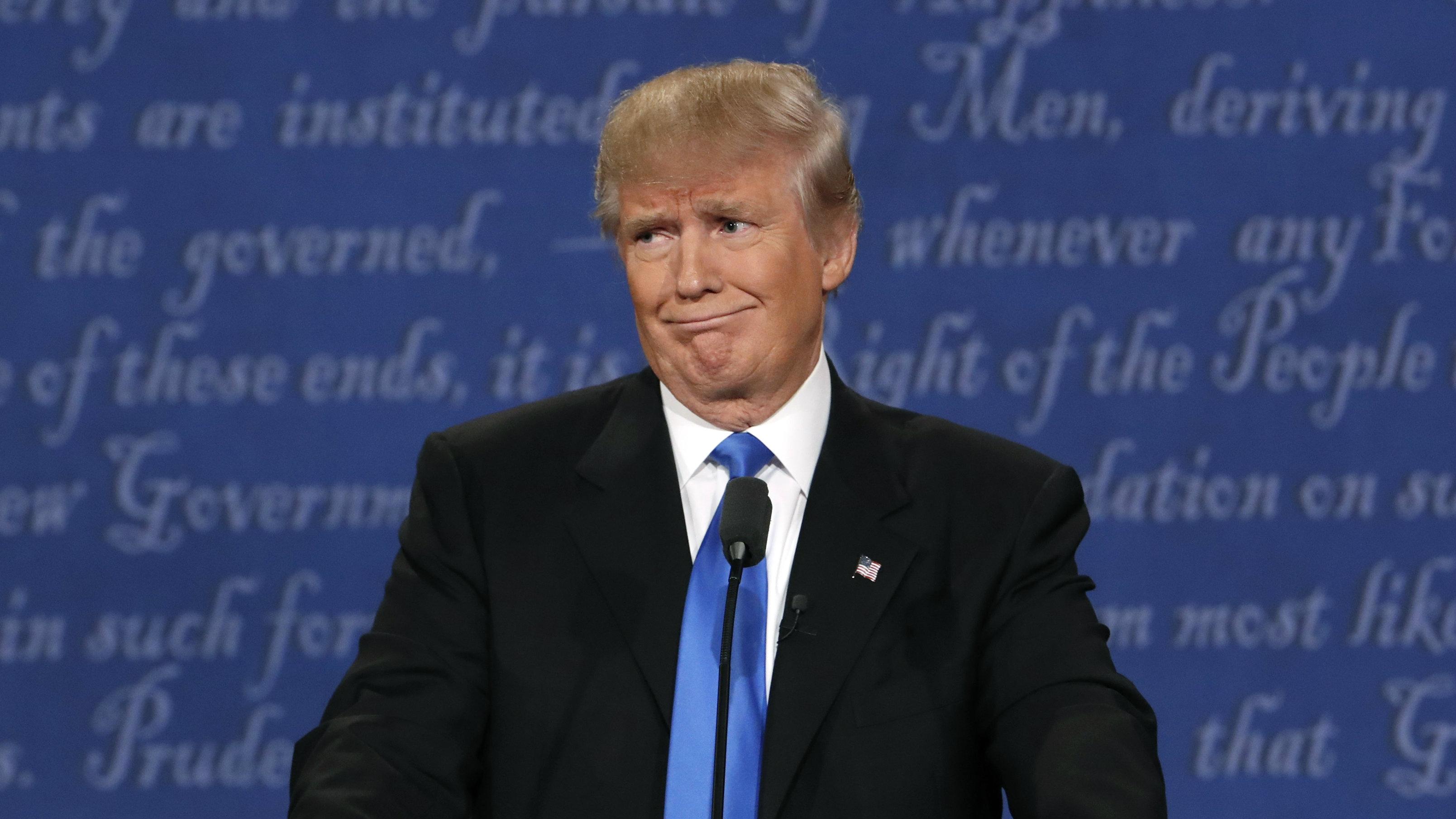 Trump making face at debate
