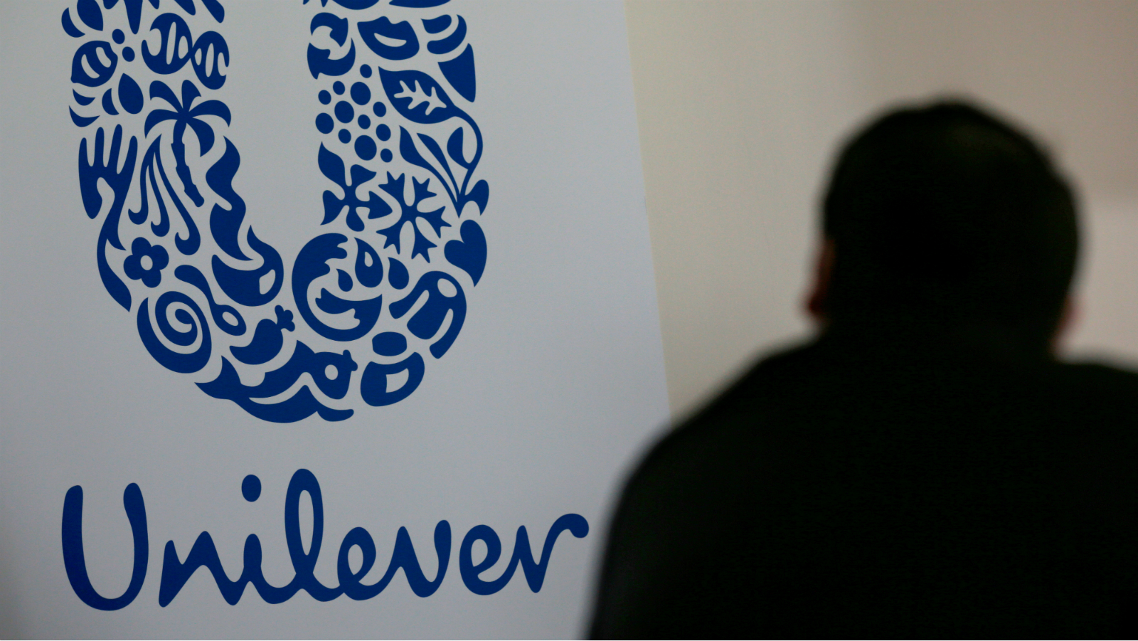The logo of the Unilever group is seen at the Miko factory in Saint-Dizier, France, May 4, 2016.
