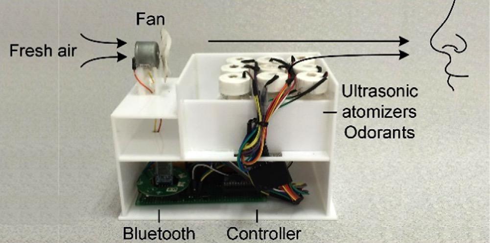 The olfaction machine prototype.