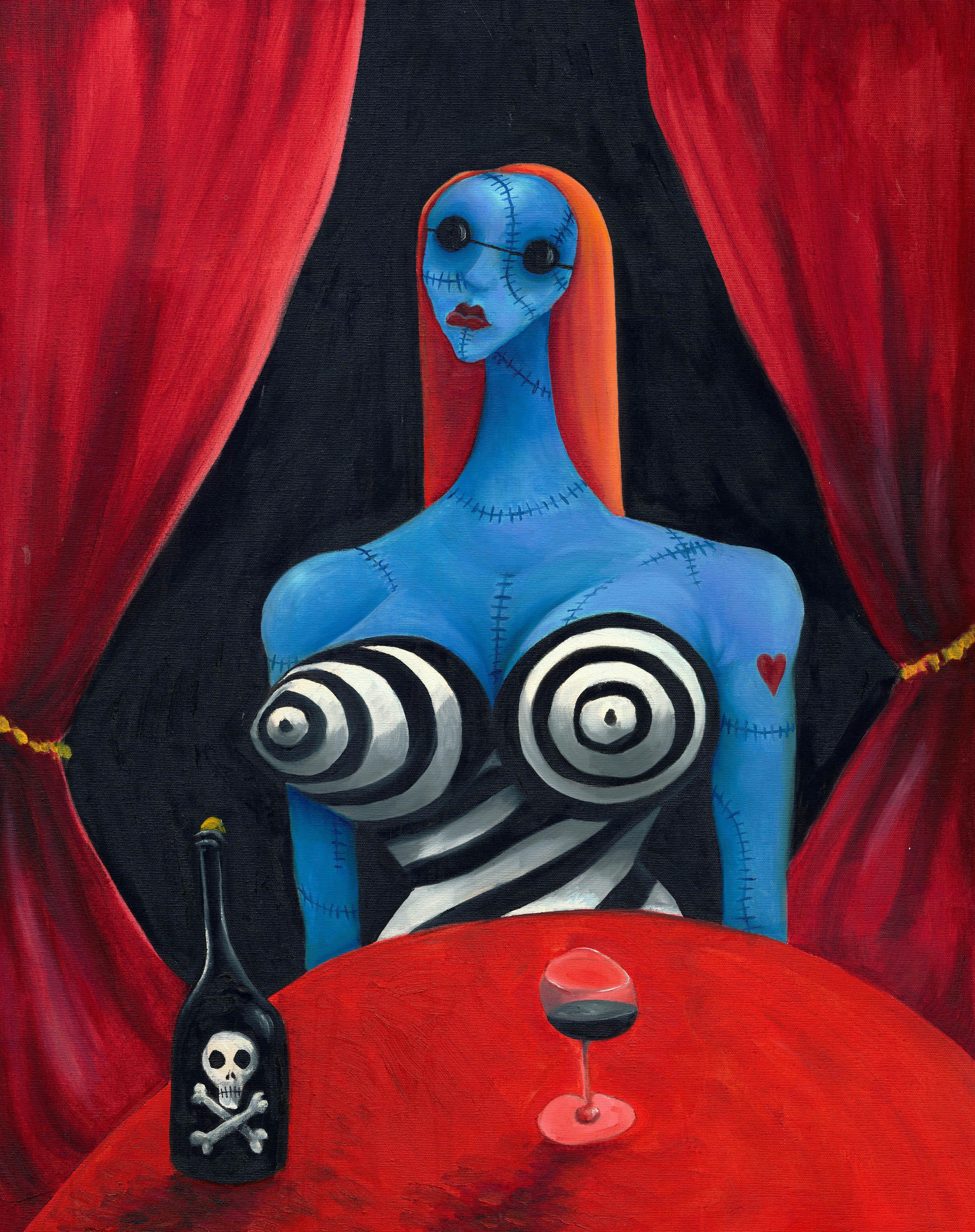 "Tim Burton's ""Blue Girl with Wine"""