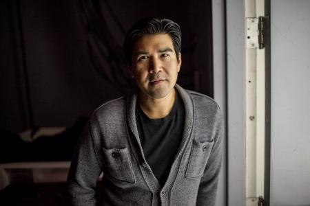 A portrait of Asian-American Actor Pun Bandhu