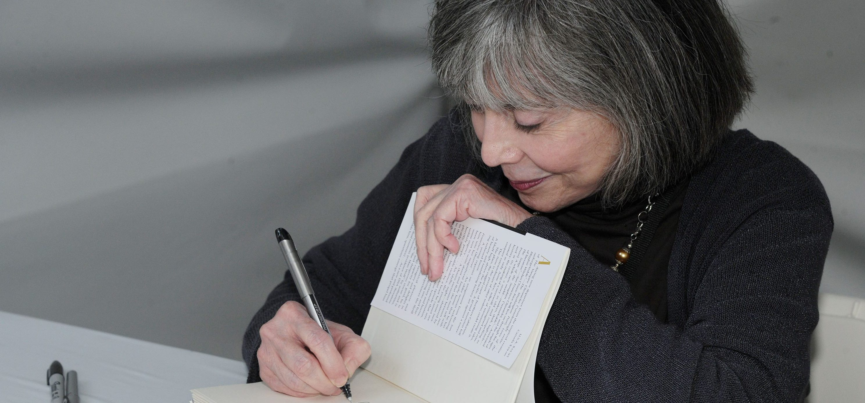 Anne Rice attends LA Times Festival of Books, Sun, April. 22, 2012, at the USC Campus in Los Angeles. The Los Angeles Times Festival of Books began in 1996, attracting more than 140,000 book enthusiasts each year.(AP Photo/Katy Winn)