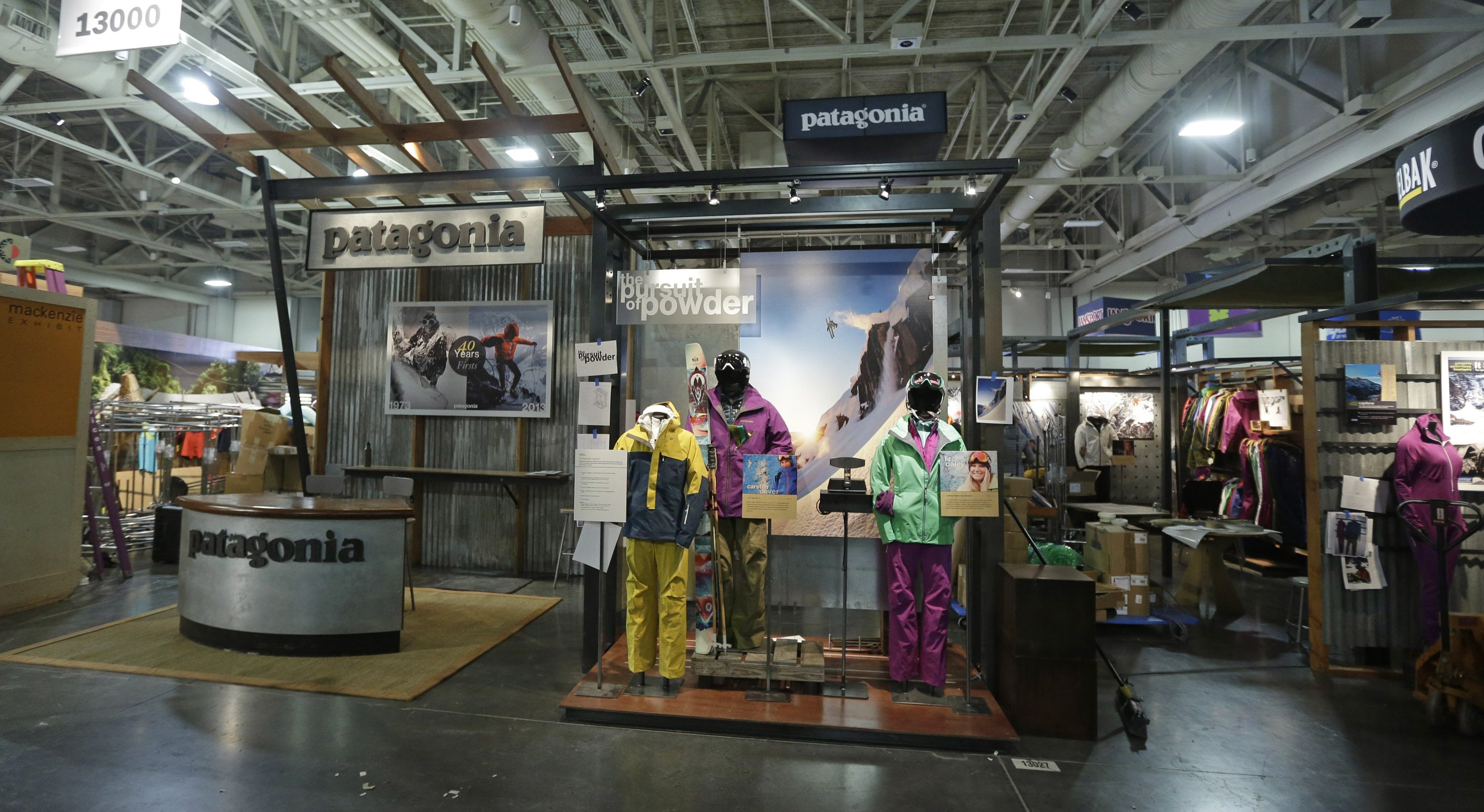 The Patagonia display at the Outdoor Retailer show in Salt Lake City.
