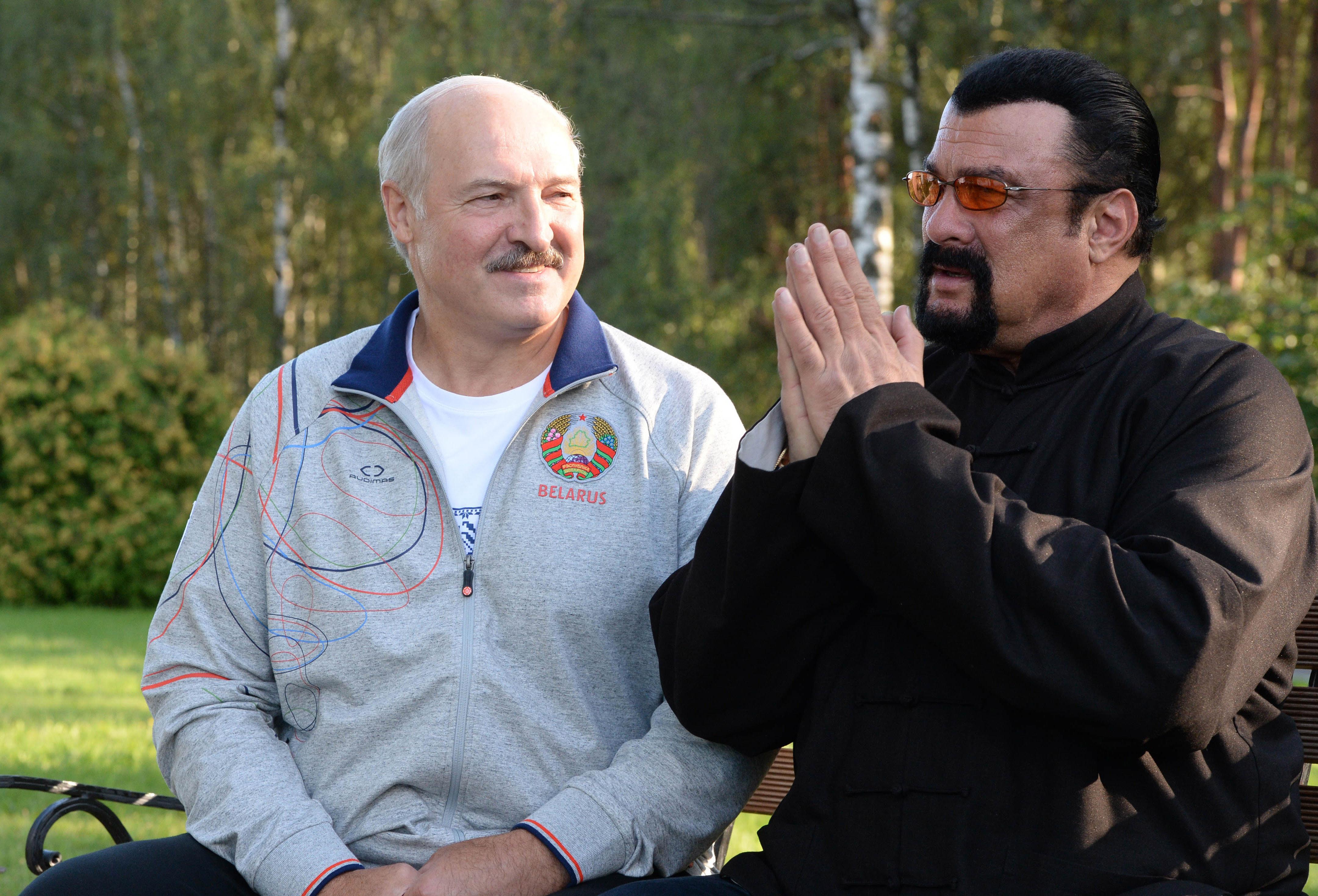 Steven Seagal and Belarus dictator Aleksandr Lukashenko