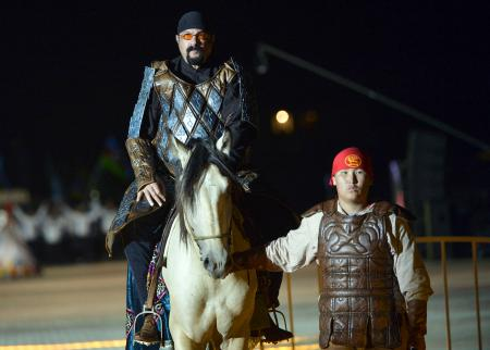 Steven Seagal at Kyrgyzstan's Nomad Games