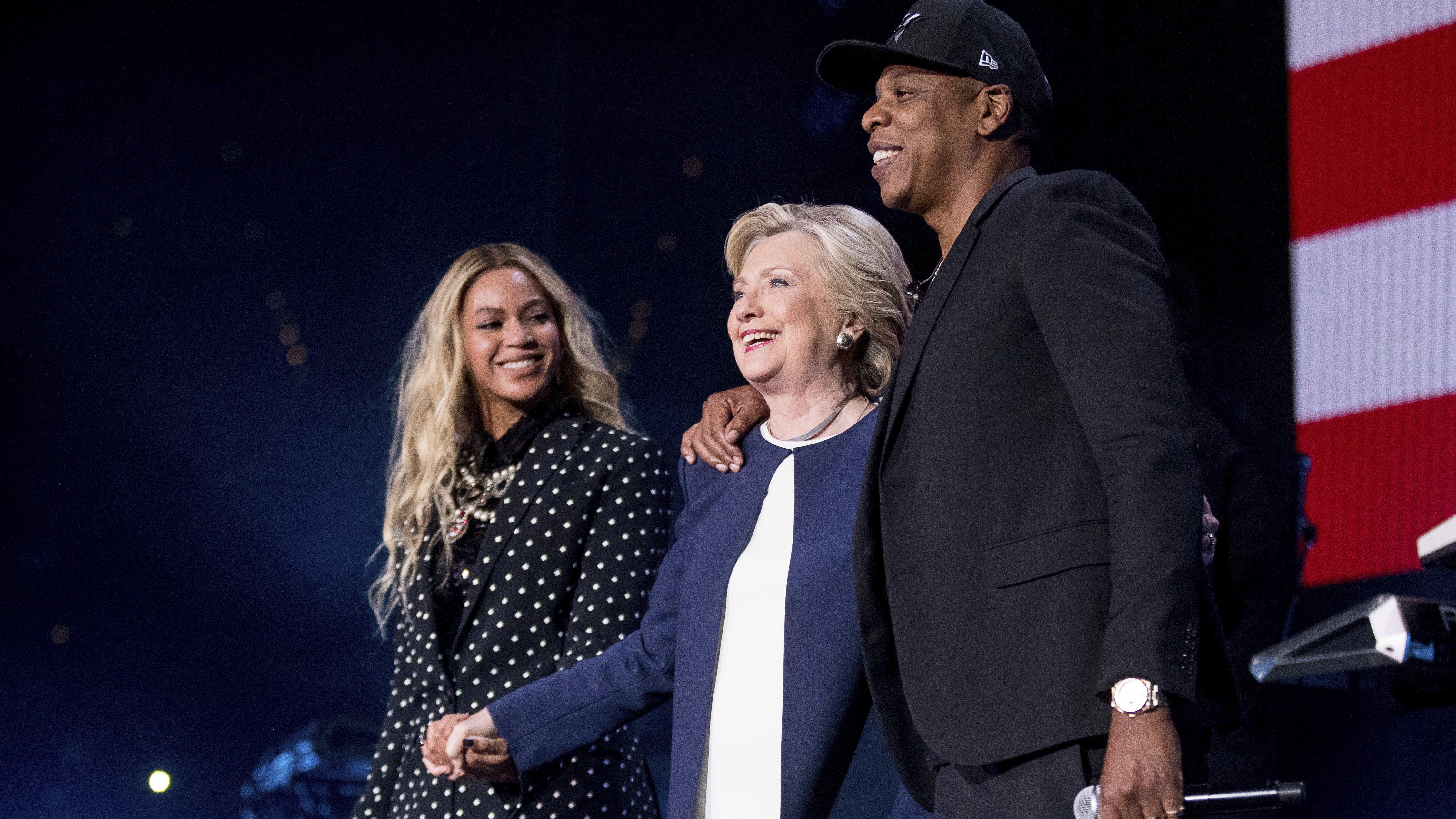 Hillary Clinton, Beyonce, Jay Z